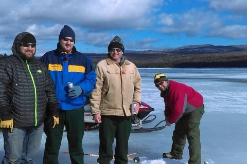 Winter Fishing: On the Rocks